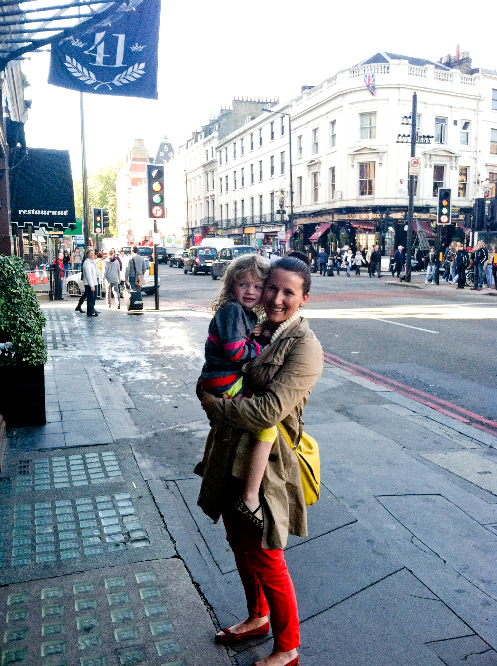 Avia and I in London